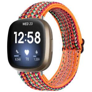 StrapsCo Funky Pattern Elastic Nylon Watch Band Strap for Fitbit Versa 3