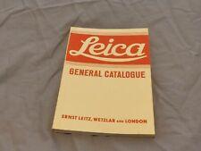 GENUINE ORIGINAL LEITZ  LEICA GENERAL CATALOGUE