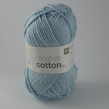Rico Creative Cotton DK - 100% Cotton Knitting & Crochet Yarn - Light Blue 11