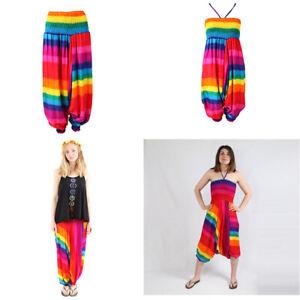 Rainbow Harems & Playsuit Halter Neck Tie Size 6-16