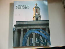 Managerial Accounting Vol. 2 Smeal College Business Penn State Custom Horngren