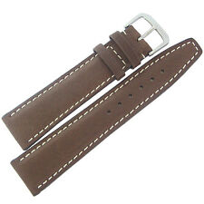20mm RIOS Mens Havana Mocha Brown Pigskin Leather German Made Watch Band Strap
