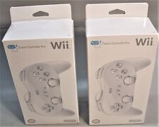 New Nintendo Wii Classic Controller Pro White Factory Sealed + One Opened