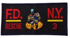 FDNY City Of New York Fire Department Rescue 3 Patch.(Rectangular)