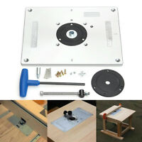Aluminum Router Table Insert Plate 235x300x8mm For Woodworking Engraving Machine