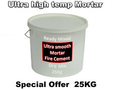 Fire cement high temperature Mortar wood fired pizza oven brick dry mix 25kg Tub