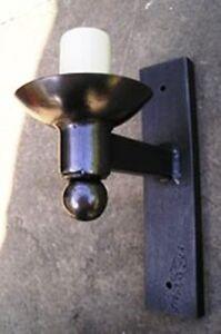 Wrought Iron British Hand Forged Single Wall Light