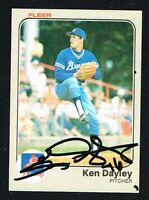 Ken Dayley #135 signed autograph auto 1983 Fleer Baseball Trading Card
