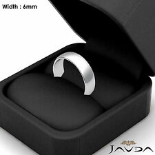 Mens Wedding Band Dome Plain High Polished Solid Classic Ring 6mm Platinum 9.9gm