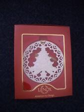 Free S&H Lenox Tree Pierced Ornament Ivory China New In Box