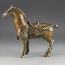 Chinese Brass Old Handwork Hammered Steed Superb Statue Lucky Collectable d02