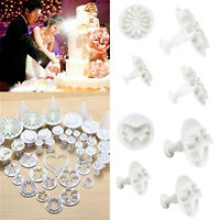 """New 33pc Sugarcraft Cake Cupcake Decorating Fondant Icing Plunger Cutters Tool"""""""""""