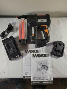 WORX WX840L 20V PowereShare NailForce 18 Gauge Brad Nail & Staple Gun