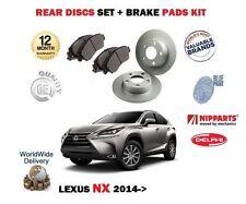 FOR LEXUS NX 200T 2.0 300H 2.5 HYBRID 2014-> REAR BRAKE DISCS SET + DISC PADS