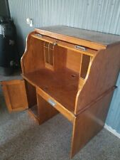 Roll Top Oak Desk Great Condition
