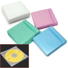 100X Coperchio Laterale Doppia Custodia Borsa Titolare di plastica custodia per CD DVD Disc