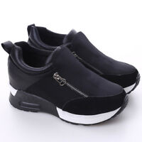 Women's Round Toe Muffins Platform  High Heel Sneakers Shoes Jian