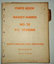 Massey Harris 35 P.T. Combine Parts Catalog Manual Book Original! 1/60