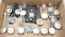 LOT OF 17 VINTAGE MENS & LADIES TIMEX WRISTWATCH WATCH PARTS REPAIR