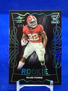 2021 Leaf Trinity #RB-12 Najee Harris RC Rookie Steelers /50