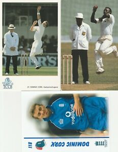 cricket Derby Derbyshire postcard Dominic Cork Devon Malcolm