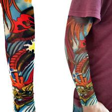 Cubierta de Halloween de Río Dragón Larga Manga Pierna Brazo Completo Falso Tatuaje Diseño Pájaro