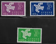 Cyprus Scott #201-03, Singles 1962 Complete Set FVF MH
