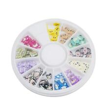 1Set DIY Fimo Polymer Clay Slices Nail Art Sticker Tip Nail Decorations KS