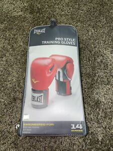 Everlast Pro Style Training Boxing Gloves 14 Oz Red New