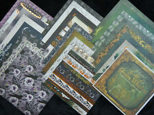 12X12 Scrapbook Paper Cardstock Halloween Green Witches Steampunk Magic Dark 24