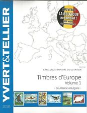 EUROPE CATALOGUE Y T  2018  VOLUME 1 TIMBRES  A à B  ALLEMAGNE - BELGIQUE......