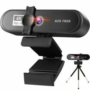 2K 4K Conference PC Webcam Autofocus USB Web Camera Laptop Desktop Microphone