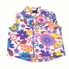 Vintage 18M Patagonia Flower Pattern Fleece Vest