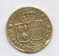 """GOLD/ORO - FRANCIA Luigi d'oro 1786 - ZECCA """"K"""" BORDEAUX - OCCASIONE"""