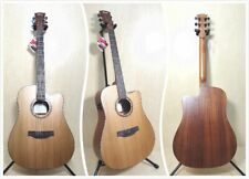 Cosmetic Blemished Klema K100DC-CE Solid Cedar Top Electric-Acoustic Guitar+Bag