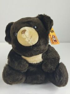 Vtg 79 Russ Berrie & Co Luv Pets Brambles Brown Teddy Bear Plush Stuffed Animal
