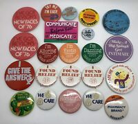 Vintage 1980's Lot of Pharmacy, Health & Beauty Button Pins Pinbacks (RF1040-2)