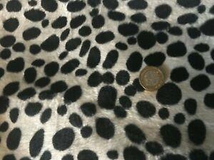 "Luxury Dalmation Valboa Faux Animal Print Fur Fabric Low Pile 60""x60"" Arts Craft"