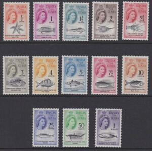Tristan da Cunha EII 1961 complete MINT SET sg42-54 MNH