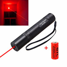 Tactical RED Laser Pointer 5mw Lazer Pen Visible Beam+3.7v 16340 Battery 2300mAh