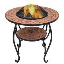 Vidaxl table de Foyer Mosaïque Terre cuite 68 cm Céramique Brasero Jardin