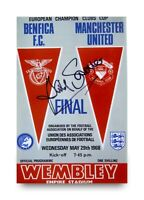 David Sadler Hand Signed 6x4 Photo Manchester United Autograph Memorabilia + COA