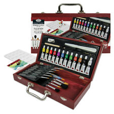 31 Pc Watercolour Paint Set Painting Artist Colour Wooden Brush Box RSET WAT2000