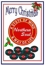 Northern Soul- Merry Christmas & New Year Card - Gloss Finish - Brand New