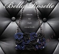 Rose Flip Leather Wallet Case Bling Pearl Pendant Card Slot Handbag Chain Cover