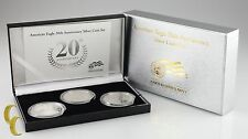 2006 Silver American Eagle 20th Anniversary 3-Coin Set w/ Box & CoA
