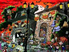Chaos on Halloween 1000 or 500 Piece Jigsaw Puzzles