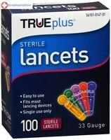 TRUEplus Sterile Lancets 33 Gauge 100 Count