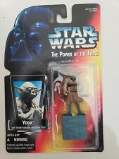 STAR WARS THE POWER OF THE FORCE YODA 1995 KENNER BRAND NEW ON CARD! MOC!