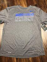 New Nike Mens UK Kentucky Wildcats Short sleeve Shirt Size XL Gray Blue